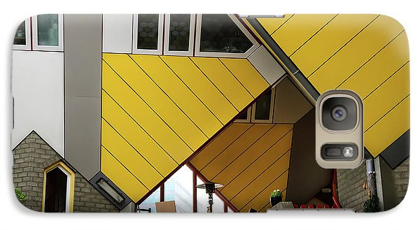 Galaxy Case featuring the photograph Cube Houses Detail In Rotterdam by RicardMN Photography