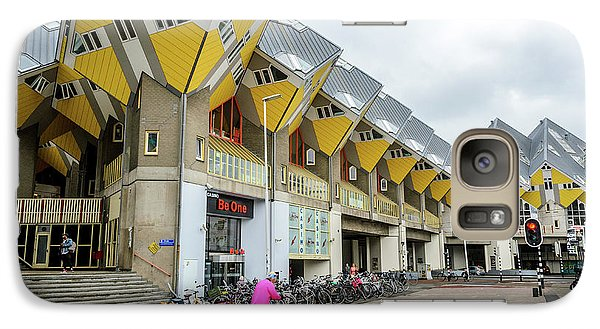 Galaxy Case featuring the photograph Cube Houses In Rotterdam by RicardMN Photography