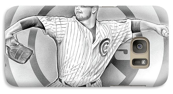 Chicago Cubs Galaxy S7 Case - Cubs 2016 by Greg Joens