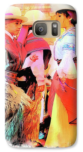 Galaxy Case featuring the photograph Cuenca Kids 884 by Al Bourassa