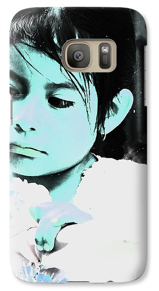 Galaxy Case featuring the photograph Cuenca Kids 886 by Al Bourassa