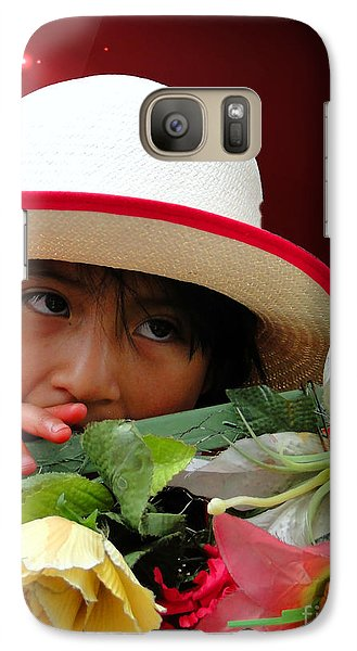 Galaxy Case featuring the photograph Cuenca Kids 887 by Al Bourassa