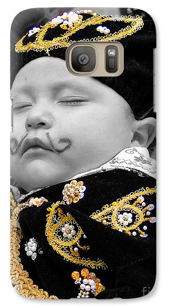 Galaxy Case featuring the photograph Cuenca Kids 891 by Al Bourassa