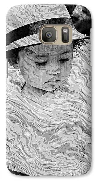 Galaxy Case featuring the photograph Cuenca Kids 894 by Al Bourassa