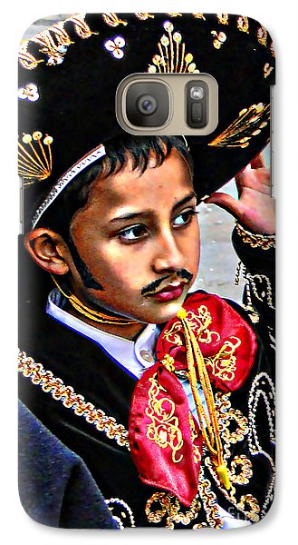 Galaxy Case featuring the photograph Cuenca Kids 897 by Al Bourassa