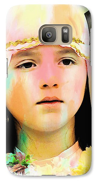 Galaxy Case featuring the photograph Cuenca Kids 899 by Al Bourassa