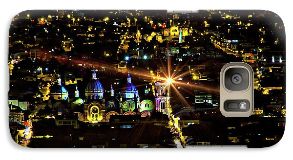 Galaxy Case featuring the photograph Cuenca's Historic District At Night by Al Bourassa