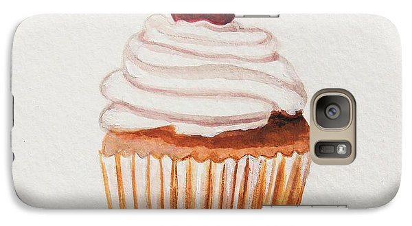 Galaxy Case featuring the painting Cupcake With A Cherry On Top Please by Elizabeth Robinette Tyndall
