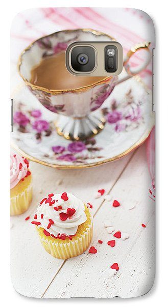 Galaxy Case featuring the photograph Cupcakes And Coffee by Rebecca Cozart