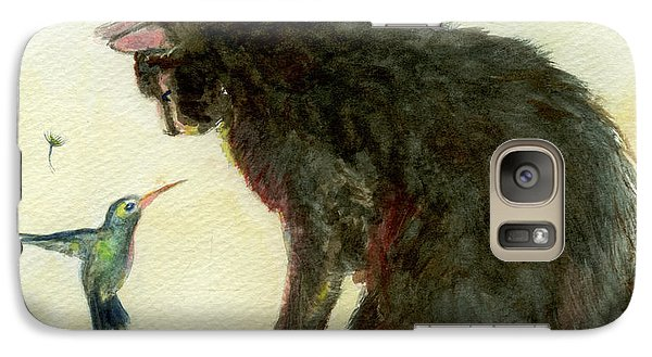 Galaxy Case featuring the painting Curiosity by Andrew Gillette