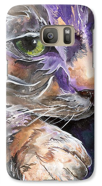Galaxy Case featuring the painting Curiosity by Sherry Shipley