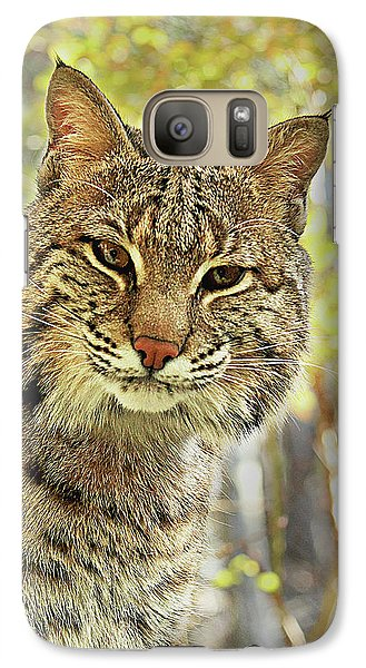 Galaxy Case featuring the photograph Curiosity The Bobcat by Jessica Brawley