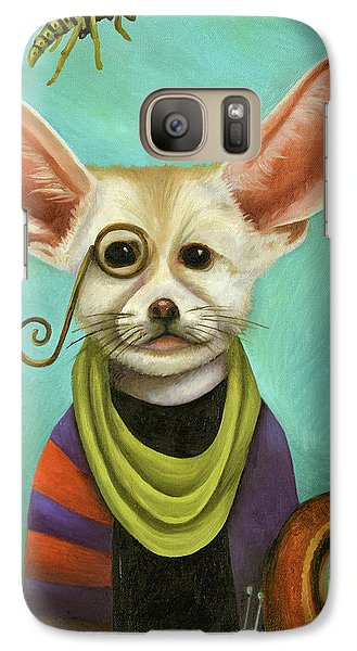 Galaxy Case featuring the painting Curious As A Fox by Leah Saulnier The Painting Maniac