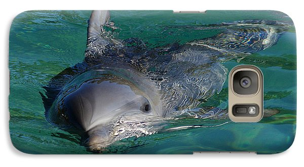 Galaxy Case featuring the photograph Curious Dolphin by Gary Crockett