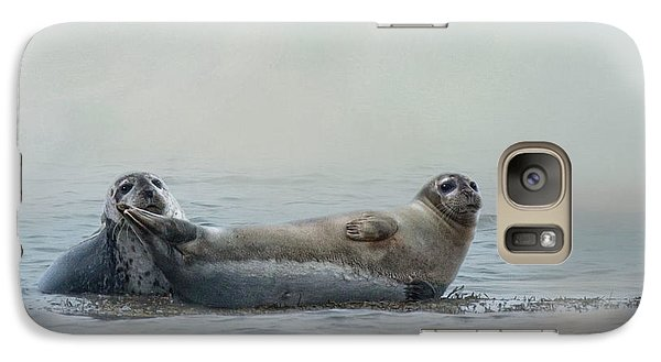 Galaxy Case featuring the photograph Curious Onlookers by Robin-Lee Vieira