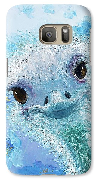 Curious Ostrich Galaxy S7 Case
