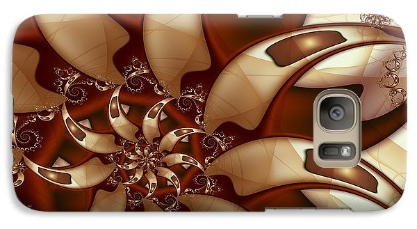 Galaxy Case featuring the digital art Curl Around by Michelle H