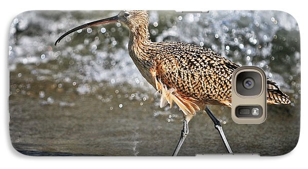 Galaxy Case featuring the photograph Curlew And Tides by William Lee