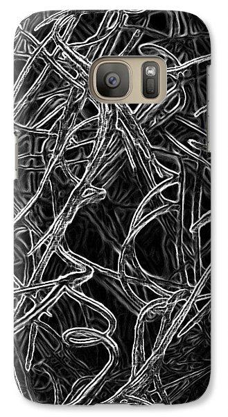 Galaxy Case featuring the photograph Curliques by Lynda Lehmann