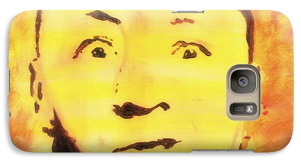 Galaxy Case featuring the painting Curly Howard Three Stooges Pop Art by Bob Baker