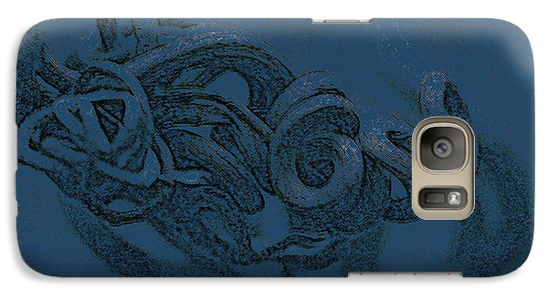 Galaxy Case featuring the digital art Curly Swirly by Kim Henderson