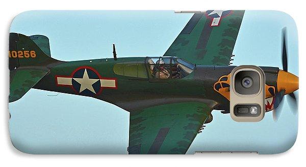 Galaxy Case featuring the photograph Curtiss P-40k Warhawk N401wh Chino California April 29 2016 by Brian Lockett