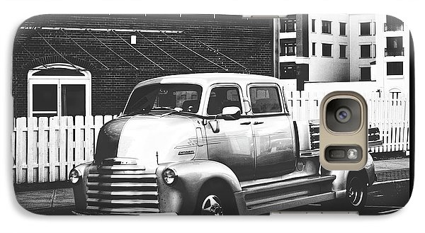 Galaxy Case featuring the photograph Custom Chevy Asbury Park Nj Black And White by Terry DeLuco