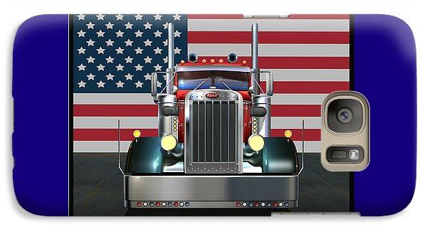 Truck Galaxy S7 Case - Custom Peterbilt 2 by Stuart Swartz