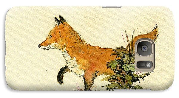 Cute Fox In The Forest Galaxy Case by Juan  Bosco