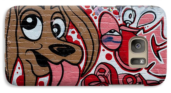 Galaxy Case featuring the painting Cute Graffiti Dog by Yurix Sardinelly