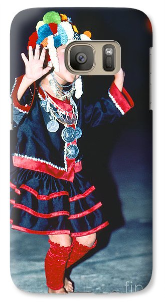 Galaxy Case featuring the photograph Cute Little Thai Girl Dancing by Heiko Koehrer-Wagner