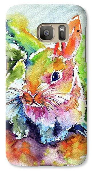 Galaxy Case featuring the painting Cute Rabbit by Kovacs Anna Brigitta