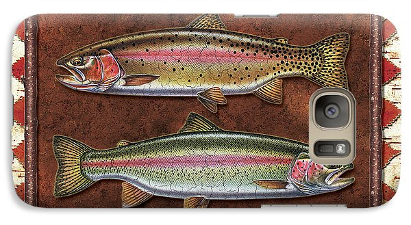 Cutthroat And Rainbow Trout Lodge Galaxy S7 Case by JQ Licensing