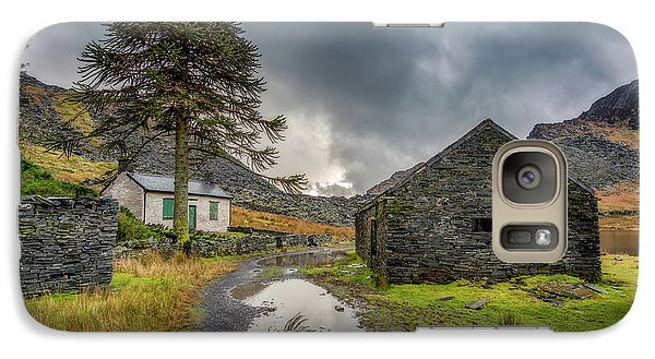 Galaxy Case featuring the photograph Cwmorthin Slate Ruins by Adrian Evans