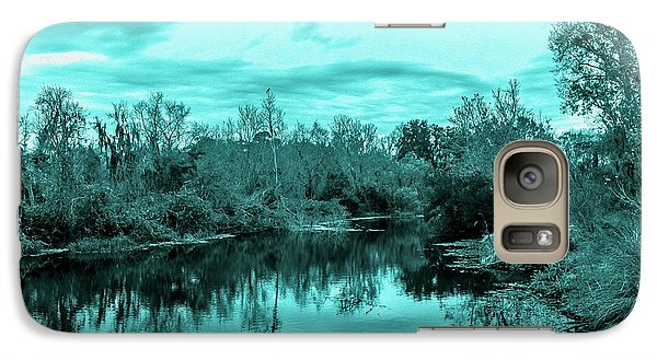 Galaxy Case featuring the photograph Cyan Dreaming - Sarasota Pond by Madeline Ellis