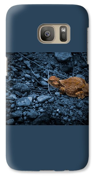 Galaxy Case featuring the digital art Cyanotype Horned Toad by Bartz Johnson