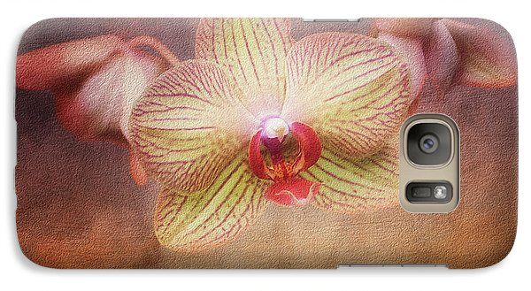 Orchid Galaxy S7 Case - Cymbidium Orchid by Tom Mc Nemar