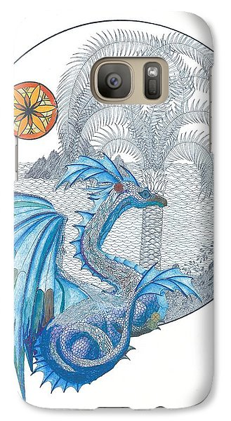 Galaxy Case featuring the painting Cymru by Dianne Levy