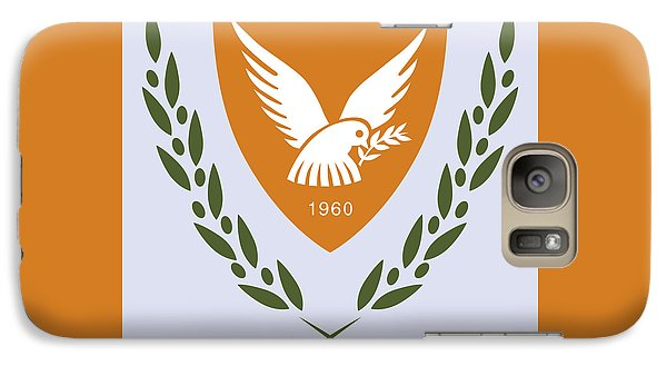 Galaxy Case featuring the drawing Cyprus Coat Of Arms by Movie Poster Prints
