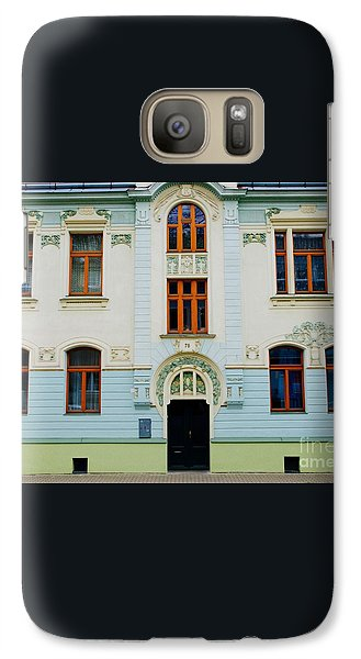 Galaxy Case featuring the photograph Czech Facades by Louise Fahy