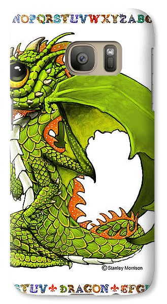 Galaxy Case featuring the digital art D Is For Dragon by Stanley Morrison