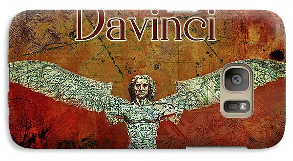 Galaxy Case featuring the digital art da Vinci 2023 by Greg Sharpe