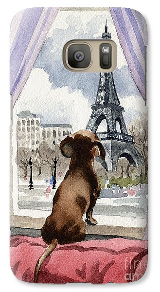 Dachshund In Paris Galaxy S7 Case