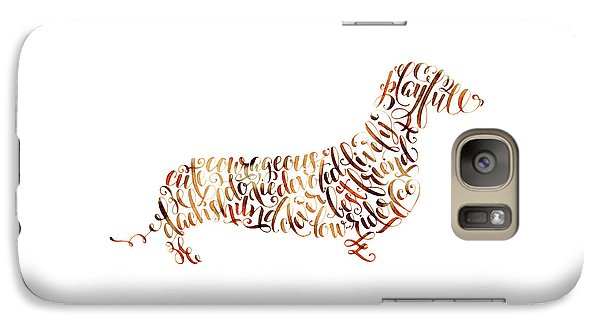 Galaxy Case featuring the painting Dachshund by Laura Bell