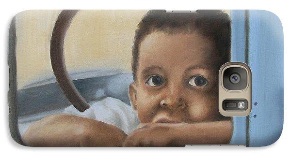 Galaxy Case featuring the painting Daddy's Truck by Annemeet Hasidi- van der Leij
