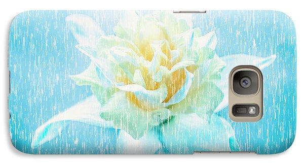Daffodil Flower In Rain. Digital Art Galaxy S7 Case