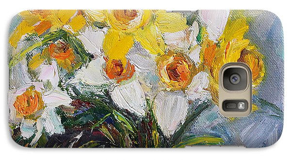 Galaxy Case featuring the painting Daffodil In Spring  by Jennifer Beaudet