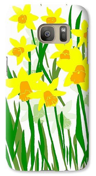Galaxy Case featuring the digital art Daffodils Drawing by Barbara Moignard
