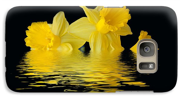 Galaxy Case featuring the photograph Floating Daffodils  by Geraldine Alexander