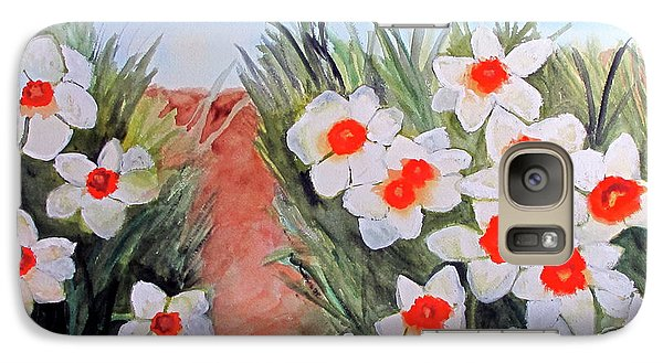 Galaxy Case featuring the painting Daffodils by Sandy McIntire